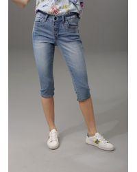 Aniston CASUAL Capri Jeans - Blauw