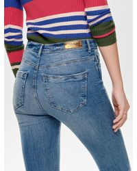 ONLY Paola Highwaist Skinny Fit Jeans - Blau
