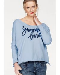 Cotton Candy Sweatshirt »Bente« mit Pailletten