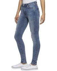 Tommy Hilfiger Skinny-fit-Jeans »HIGH RISE SPR SKNY TJ 2008 PLSLT« mit Destroyed Effekten & den typischen Details - Blau