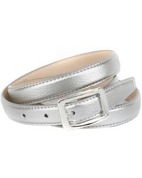Anthoni Crown Leren Riem - Metallic