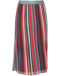 Paprika Faltenrock elegant - Rot