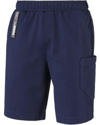 PUMA Jogginghose »NU-TILITY Herren Shorts« - Blau