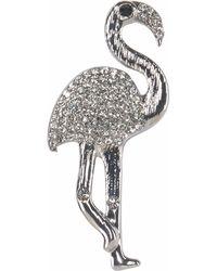 J.Jayz Brosche »in Flamingo Form« (1-tlg), mit Strasssteinen - Mehrfarbig
