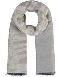 Codello XL-Schal mit Glanz-Akzenten - Grau