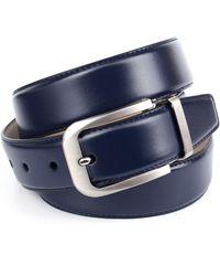 Anthoni Crown Ledergürtel im klassischen Design - Blau