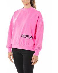Replay - Sweatshirt mit lässig überschnittenen Schultern - Lyst