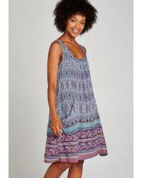 Apricot Druckkleid »Folk Floral Border Dress« mit Taschen