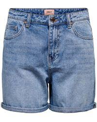 ONLY - Jeansshorts »ONLPHINE« Schmaler Saumaufschlag - Lyst