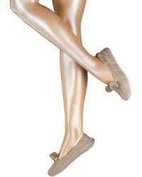 Esprit Socken Shiny Plait (1 Paar) - Braun