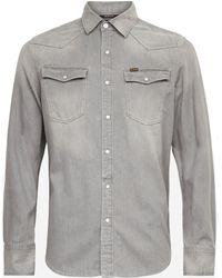 G-Star RAW Jeansoverhemd 3301 Slim Shirt - Grijs