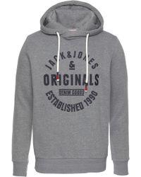 Jack & Jones Kapuzensweatshirt »Brandon Sweat Hood« - Grau