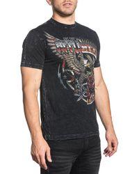 Affliction - T-Shirt mit auffälligem Front- und Rückendruck - Lyst