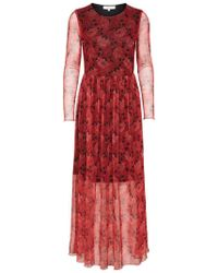 SELECTED - Mesh Kleid mit langen Ärmeln - Lyst