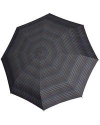 Knirps Taschenregenschirm »T2 Duomatic schwarz« - Mehrfarbig