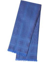 """Codello XL-Logoschal """"Forever Blue"""" aus Baumwolle und Wolle - Blau"""