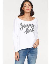 Cotton Candy Sweatshirt »Bente« mit Pailletten - Weiß