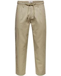Only & Sons - Leinenhose - Lyst
