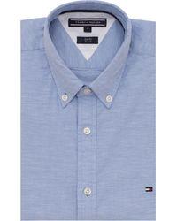 Tommy Hilfiger Overhemd Core Stretch Slim Oxford Shirt - Blauw