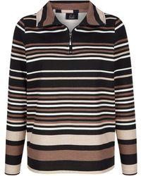 Paola - Sweatshirt im Streifendessin - Lyst