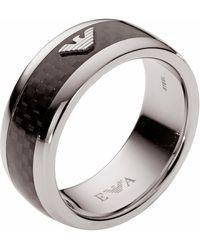 Emporio Armani Fingerring »EGS1602040«, mit Carbon - Mehrfarbig
