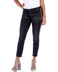 Blue Monkey 5-Pocket-Jeans »ALEXIS« mit Kontrastbesätzen - Schwarz
