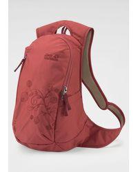 Jack Wolfskin Daypack »ANCONA«, dezente florale Stickerei - Rot