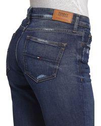 Tommy Hilfiger Bootcut-Jeans »MID RISE BOOTCUT TJ 1979 CHDK« mit Logo-Flag - Blau