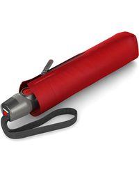 Knirps Taschenregenschirm »T.200 Medium Duomatic, Red« - Rot