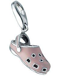 GIORGIO MARTELLO MILANO Charm-Einhänger »Schuh mit Kaltemaille, Silber 925« - Schwarz