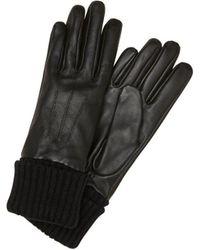 Pieces Leren Handschoenen - Zwart
