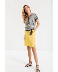 Olsen - Sommerrock mit aufgesetzten Taschen hinten - Lyst
