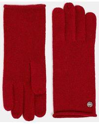 Esprit Woll-Kaschmir-Mix: Handschuhe aus Strick - Rot
