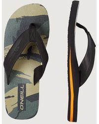 O'neill Sportswear Zehentrenner »Fm imprint pattern« - Grün