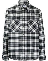 Off-White c/o Virgil Abloh Camisa de cuadros con logo Arrows - Negro