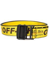 Off-White c/o Virgil Abloh Cinturón industrial con hebilla - Amarillo