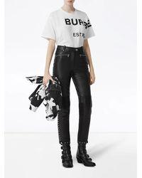 Burberry Camiseta oversize con motivo Horseferry - Blanco