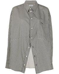 Balenciaga Camisa Swing masculina - Negro