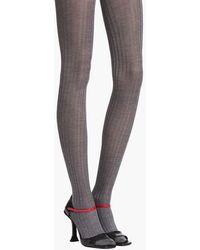 Prada Leggings de seda - Gris