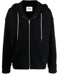 Jil Sander Sudadera con capucha de algodón orgánico - Negro