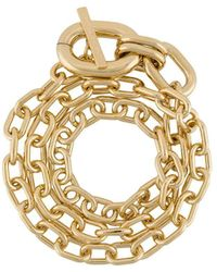 Paco Rabanne Oversized Chain Bracelet - Metallic