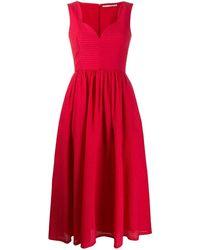 Emilia Wickstead Vestido June acampanado - Rojo