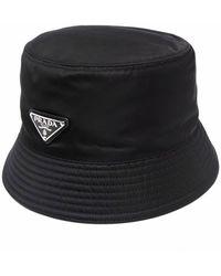 Prada Sombrero tipo pescador de Re-Nylon - Negro