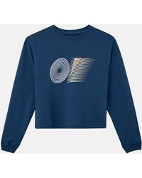 Outdoor Voices Womens Cropped Crewneck - Blue