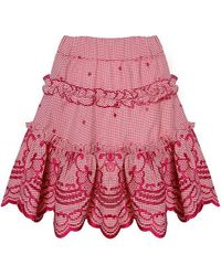 Alexis - Rafaella Skirt In Red Gingham - Lyst