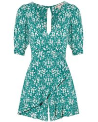 For Love & Lemons - Zamira Floral Romper Kelly - Lyst