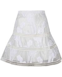 Alexis - Kamryn Skirt In White - Lyst