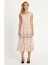 Alice McCALL Baudelaire Broderie Anglais Midi Dress - Pink