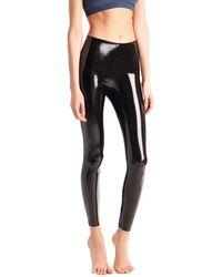Commando Classic Patent Faux-leather Firming Leggings - Black