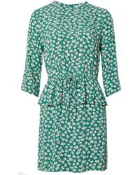 Ganni Dalton Crepe Dress - Green